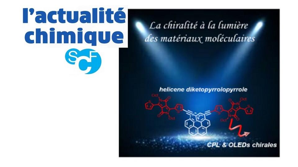 "ISCR research on chirality highlighted in the last "" l'actualité chimique "" issue"