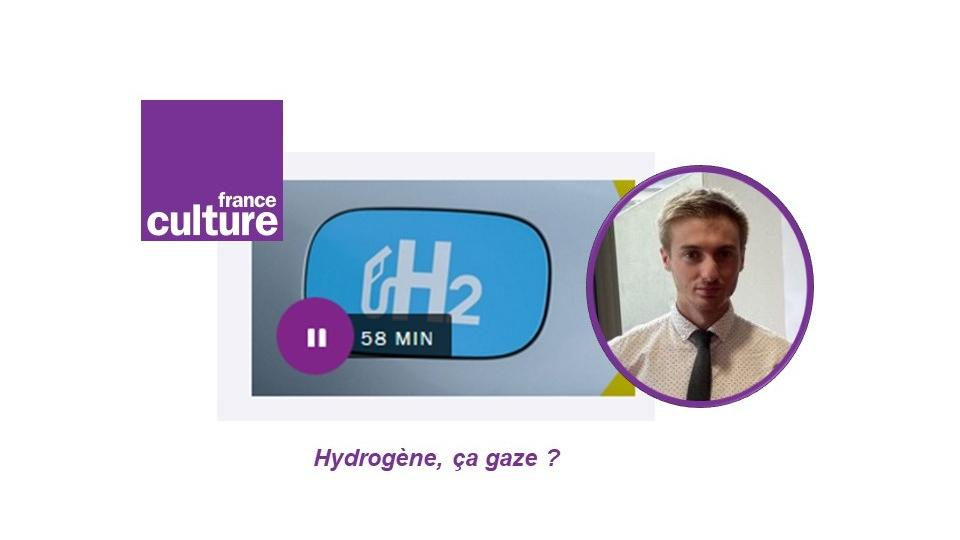 "Jeoffrey Tourneur @ISCR live on the France Culture radio show  : ""1 hour to bring science into the field of culture"". A popularization of science interview to understand why, when and how hydrogen !"
