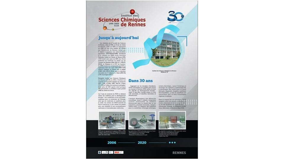 A poster realized @ISCR on the occasion of the CNRS DR17 30th anniversary