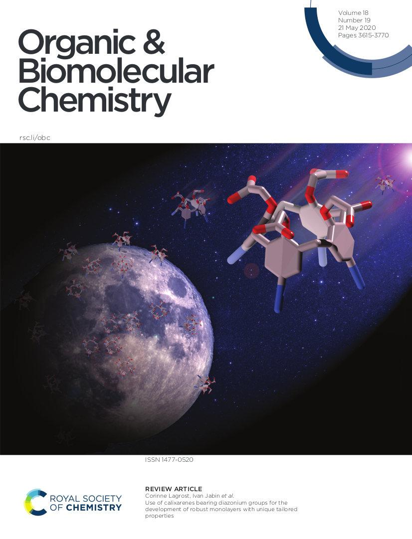 Lagrost's publication in Organic and Biomolecular Chemistry