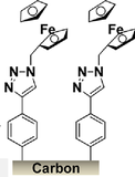 Grafting of ferrocene diazonium on carbon surface